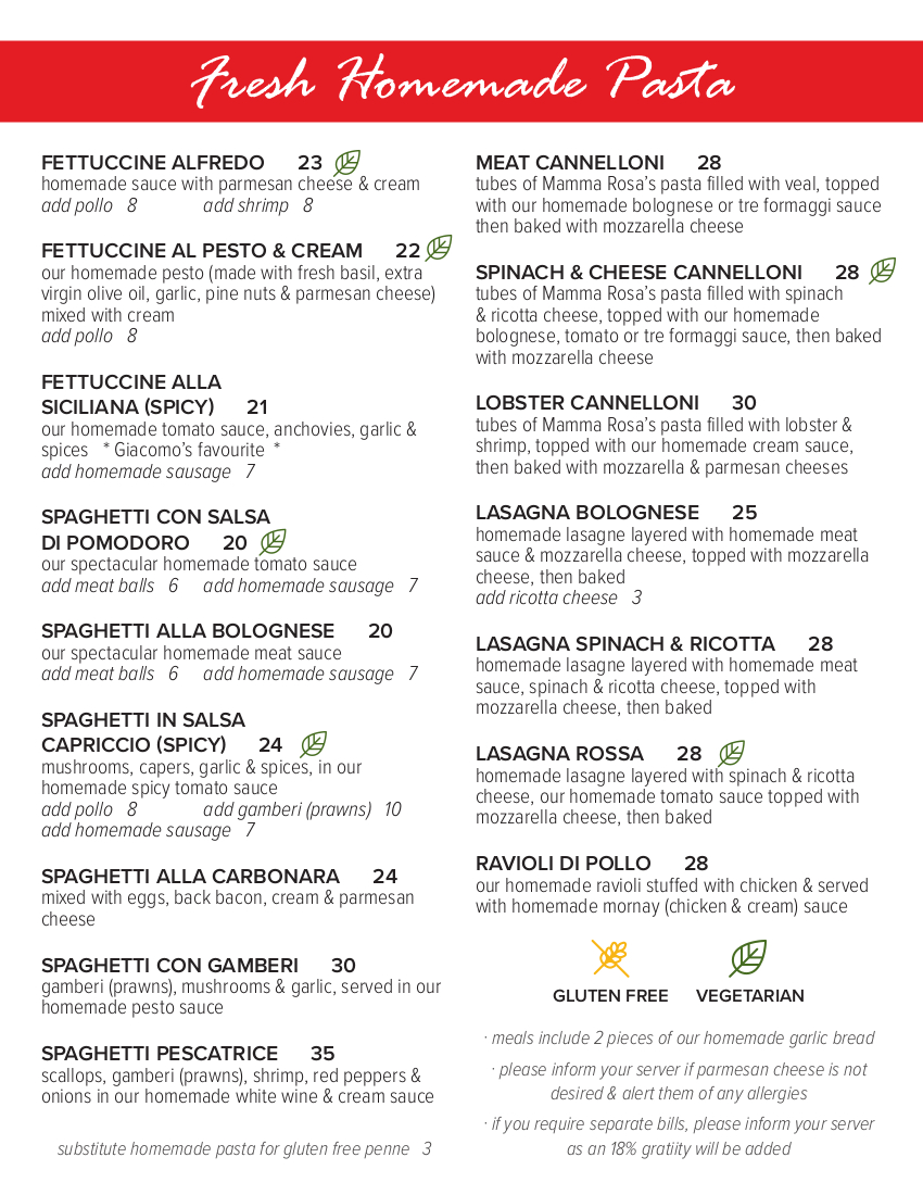 2021 Dine in Menu - Page 2